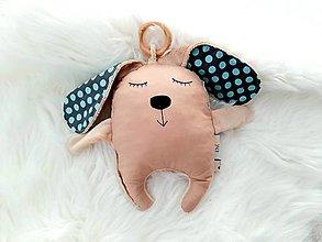 Hračky - Zajko Bunny s hrkalkou a hrýzatkom - 12581582_