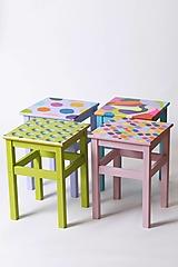 Nábytok - Stoličky malé maľované - 12580372_