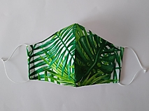 Rúška - VÝPREDAJ dámske dizajnové rúško prémiová bavlna antibakteriálne s časticami striebra dvojvrstvové tvarované - 12579667_