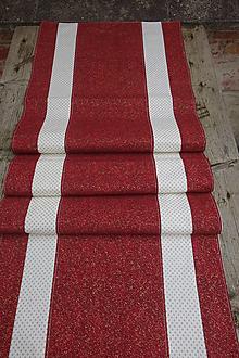 Úžitkový textil - Vianočný červeno smotanový obrus - 12577257_