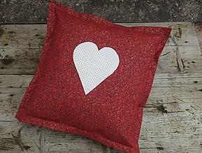 Úžitkový textil - Vianočná obliečka na vankúš červeno zlatá - 12577345_