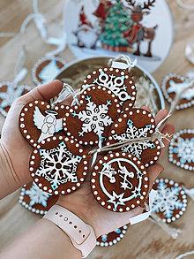 Dekorácie - Veľká vianočná sada masívnych prírodných ozdôb v darčekovej krabici - 12578161_