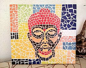 Obrázky - Mozaikový obraz BUDHA - 12579986_