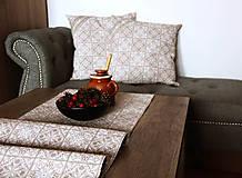 Úžitkový textil - Zimná sada - stredový obrus + 2 vankúše - 12578999_