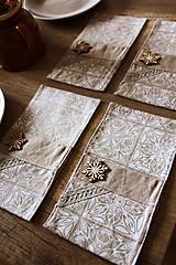 Úžitkový textil - Sada príborníkov /obal na príbor /zimný motív - 12579036_