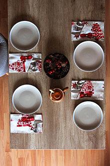 Úžitkový textil - Sada vianočných príborníkov - obal na príbor - 12578568_