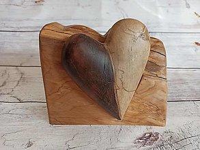 Dekorácie - Srdce dvojfarebné - 12578393_