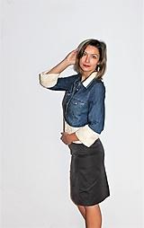 """Košele - recy-rifľová košeľa """"romantická"""" - 12579802_"""