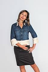 """Košele - recy-rifľová košeľa """"romantická"""" - 12579803_"""