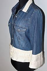 """Košele - recy-rifľová košeľa """"romantická"""" - 12579821_"""