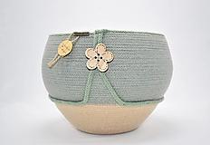 Košíky - Velký buclák v olivové 484 - 12576598_