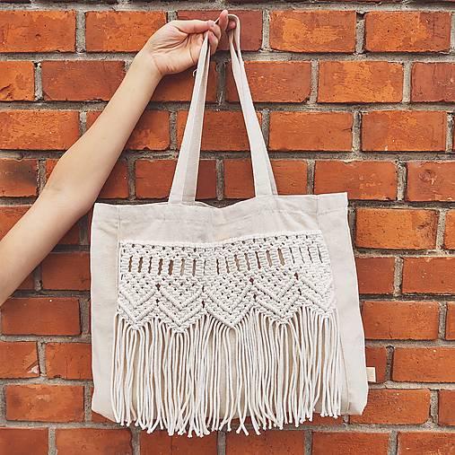 Veľké tašky - Makramé taška ARTEMIS - 12581670_