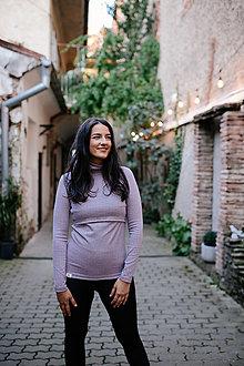 Tehotenské/Na dojčenie - Rolák na dojčenie DENIM - 12578401_
