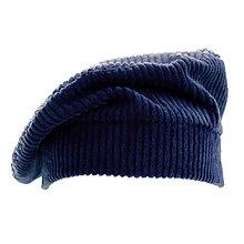 Čiapky, čelenky, klobúky - Francúzska baretka - tmavo modrá - 12576624_