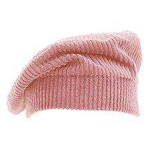 Čiapky, čelenky, klobúky - Francúzska baretka - ružová - 12576626_