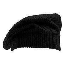 Čiapky, čelenky, klobúky - Francúzska baretka - čierna - 12576663_