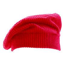 Čiapky, čelenky, klobúky - Francúzska baretka - červená - 12576676_