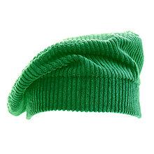 Čiapky, čelenky, klobúky - Francúzska baretka - smaragdovo zelená - 12576679_