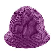 Čiapky, čelenky, klobúky - Menčestrový klobúčik - fialový - 12576840_