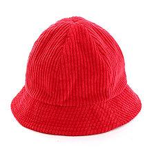 Čiapky, čelenky, klobúky - Menčestrový klobúčik - červený - 12576861_