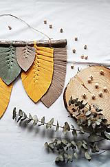 Makramé Listy Dekorácia (Žltá)