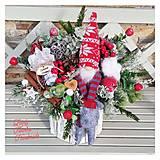 Dekorácie - Vianočná dekorácia so škriatkom - 12581049_