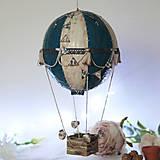 Detské doplnky - Modrý lietajúci balón - 12582274_