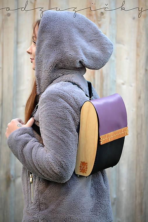 Kožený ruksak Agátka