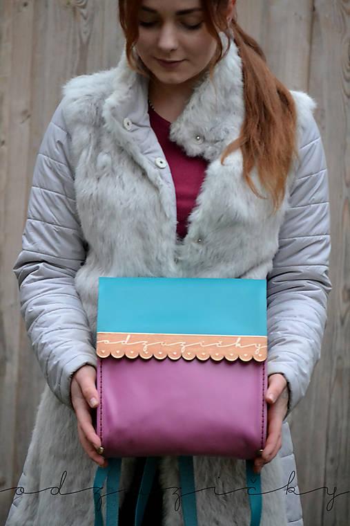 Kožený ruksak Hana