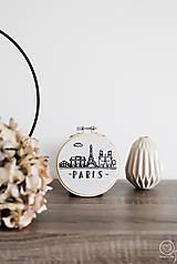 Dekorácie - Vyšívaná dekorácia Paris - 12579393_