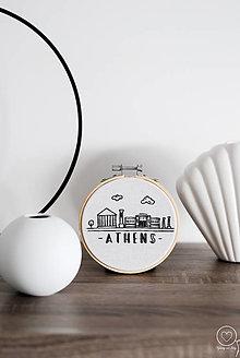 Dekorácie - Vyšívaná dekorácia Athens - 12579574_