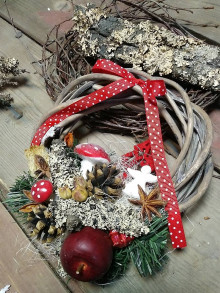 Dekorácie - Veniec Vianoce d16 - 12577023_