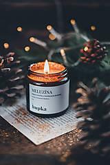 Svietidlá a sviečky - MELUZÍNA (sójová sviečka s bavlneným knôtom) - 12582538_