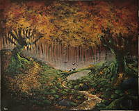 Obrazy - Októbrový Kúzelný Les - Originál Maľba - 12581611_