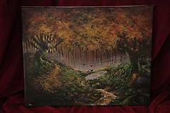 Obrazy - Októbrový Kúzelný Les - Originál Maľba - 12581686_