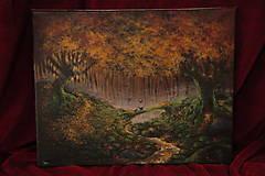 Obrazy - Októbrový Kúzelný Les - Originál Maľba - 12581687_