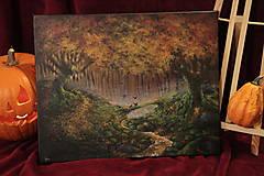 Obrazy - Októbrový Kúzelný Les - Originál Maľba - 12581700_