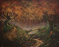 Obrazy - Októbrový Kúzelný Les - Originál Maľba - 12581702_