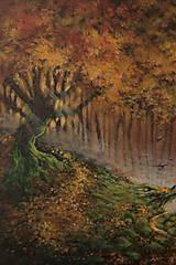 Obrazy - Októbrový Kúzelný Les - Originál Maľba - 12581705_