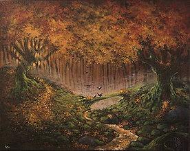 Obrazy - Októbrový Kúzelný Les - Originál Maľba - 12581675_