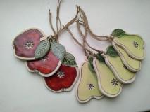 Dekorácie - keramika hruška, jablko.. - 12579900_