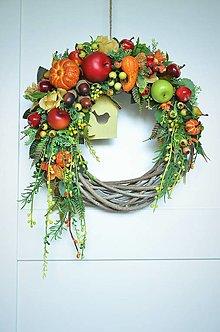 Dekorácie - Jesenný veniec - 12585764_