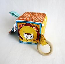 Hračky - Úchopová kocka - levík - 12583280_