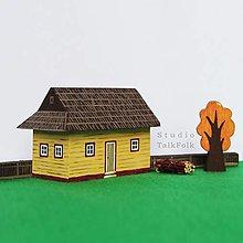 Hračky - Miniatúrna drevenica z Vlkolínca (Vlkolínec) - 12584476_