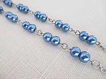 Iné šperky - Retiazka na okuliare - modré perly - chirurgická oceľ - 12584390_