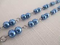 Iné šperky - Retiazka na okuliare - modré perly - chirurgická oceľ - 12584395_