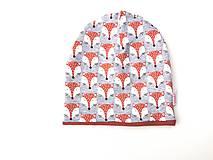"""Detské čiapky - Dvojvrstvová čiapka """"fox"""" - 12583229_"""