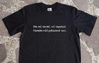 Tričká - tričko pre lenivých - 12588325_