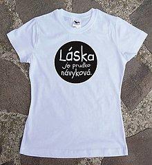 Tričká - tričko láska - 12588348_
