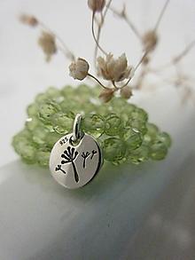 Náramky - Púpava s olivínom - 12586411_